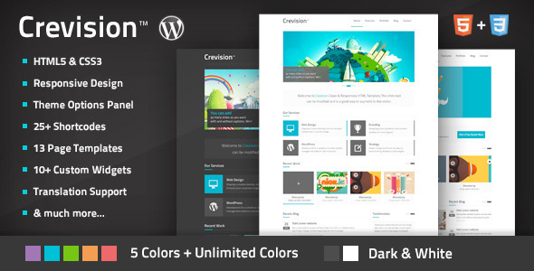 Live Preview of Crevision - Responsive WordPress Theme