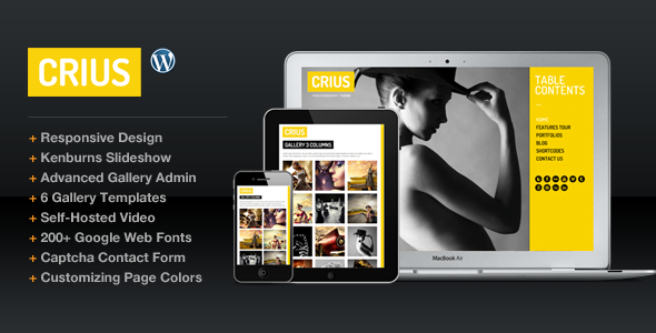 Live Preview of Crius Responsive Photography Creative Portfolio