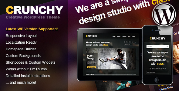 Live Preview of Crunchy Responsive Creative WordPress Theme