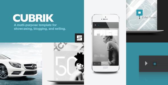 Live Preview of Cubrik Responsive Wordpress Theme