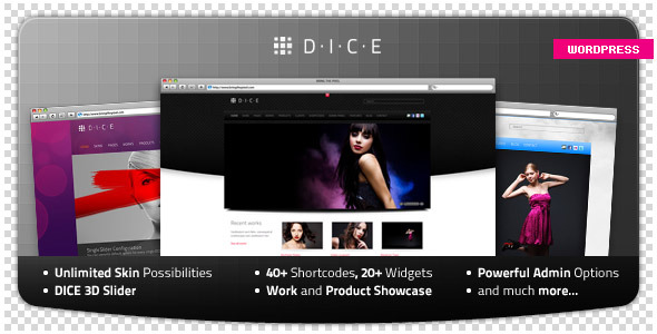 Live Preview of DICE Ultimate Business & Portfolio WP Theme