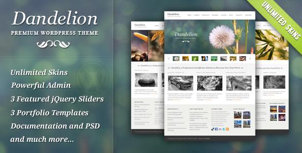 Live Preview of Dandelion - Powerful Elegant WordPress Theme