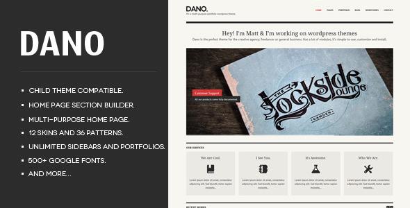 Live Preview of Dano Multi-purpose & Responsive WordPress Theme