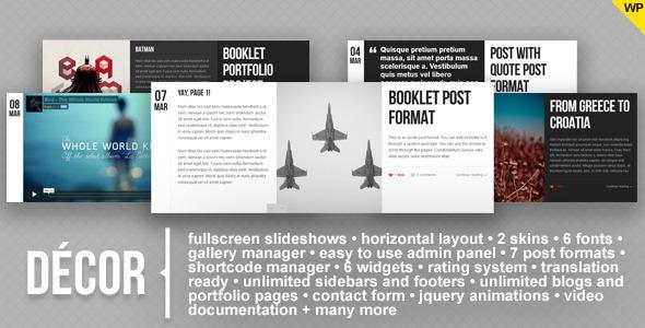 Live Preview of Decor - fullscreen creative wordpress theme