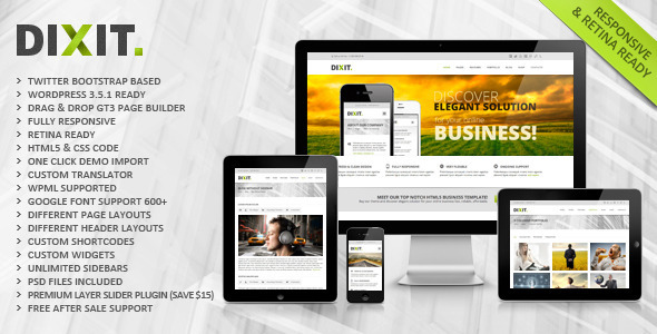 Live Preview of Dixit - Responsive Multipurpose Wordpress Theme