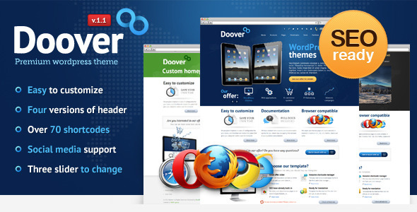 Live Preview of Doover Premium WordPress Theme