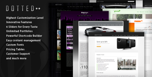 Live Preview of Dotted - Innovative WordPress Theme