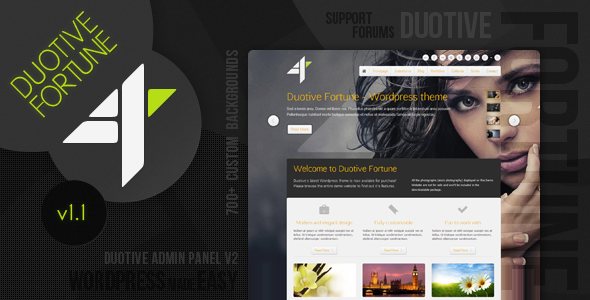 Live Preview of Duotive Fortune - Wordpress Theme
