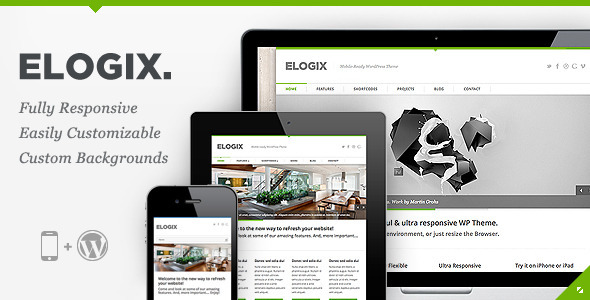 Live Preview of ELOGIX - Responsive Business WordPress Theme