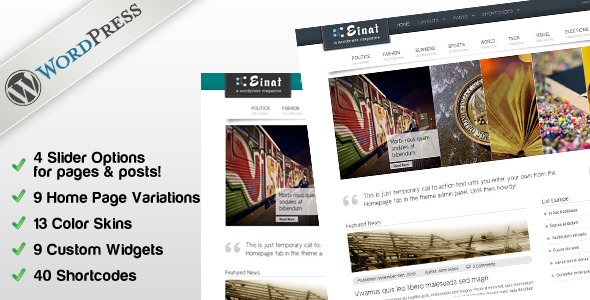 Live Preview of Einat Magazine for Wordpress