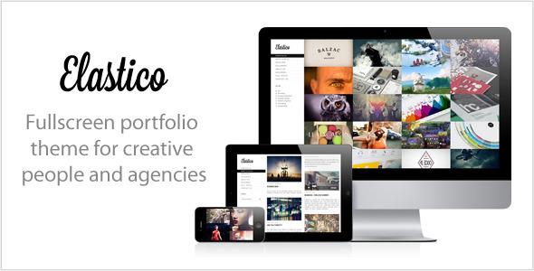 Live Preview of Elastico: Responsive Fullscreen Portfolio WP Theme