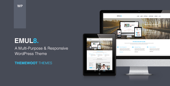 Live Preview of Emulate: Multi-purpose Responsive WordPress Theme