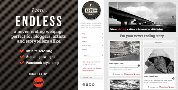 Live Preview of Endless - Infinite scrolling WordPress Theme