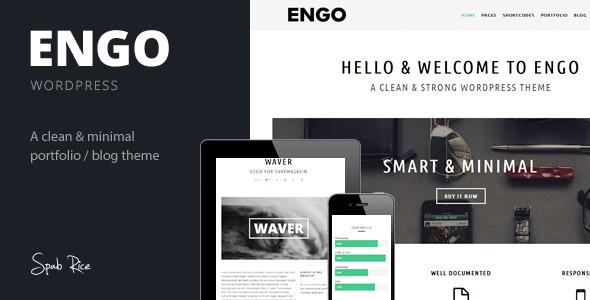 Live Preview of Engo - Smart & Minimal Wordpress Theme