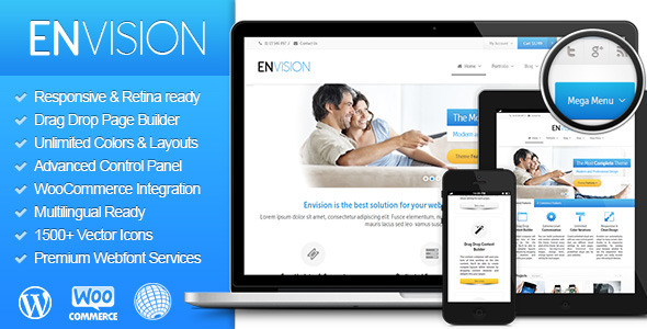 Live Preview of Envision - Responsive Retina Multi-Purpose Theme