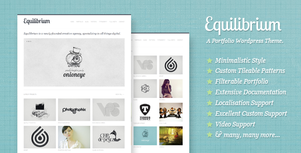Live Preview of Equilibrium: Clean and Modern WP Portfolio Theme