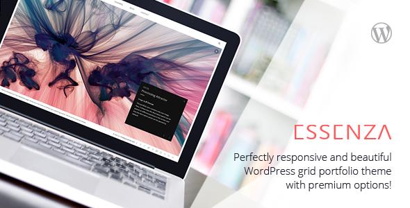 Live Preview of Essenza - Responsive Grid Portfolio Theme