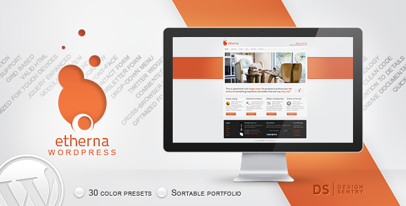 Live Preview of Etherna - powerful and flexible WordPress theme