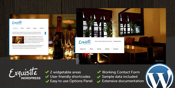 Live Preview of Exquisite WP - Multipurpose WordPress Theme