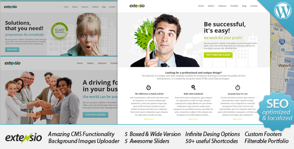 Live Preview of Extensio - Elegant and Minimal Business WordPress