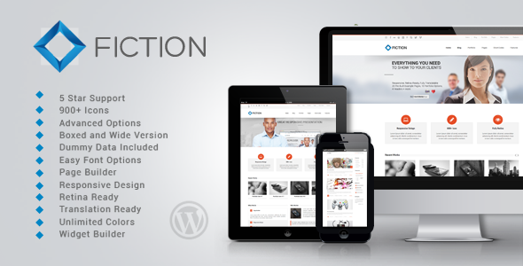 Live Preview of Fiction | Flexible and Responsive WordPress Theme