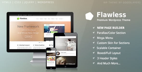 Live Preview of Flawless - Responsive Multi-Purpose WP Theme