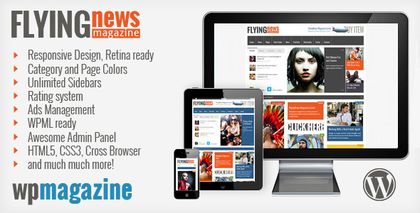 Live Preview of FlyingNews - Responsive Wordpress Magazine