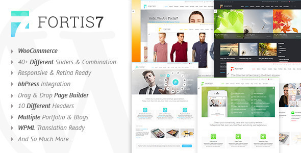 Live Preview of Fortis7 - Responsive Multi-Purpose Theme