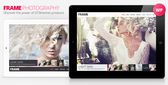 Live Preview of Frame Photography Minimalistic WP Theme