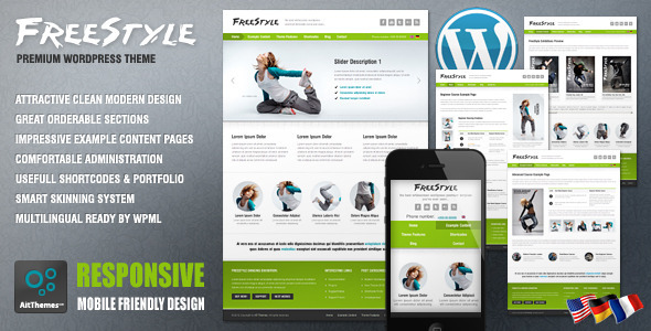 Live Preview of Freestyle Responsive Wordpress Theme