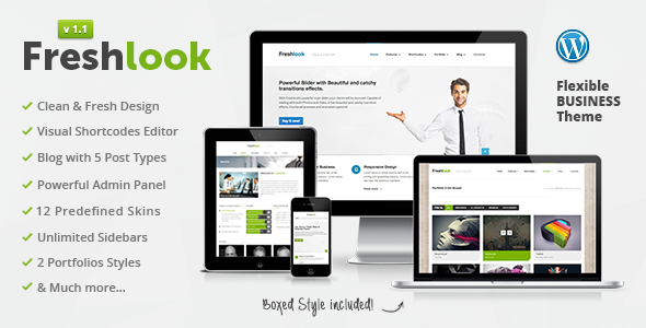 Live Preview of Freshlook - Responsive Multi-Purpose WP Theme
