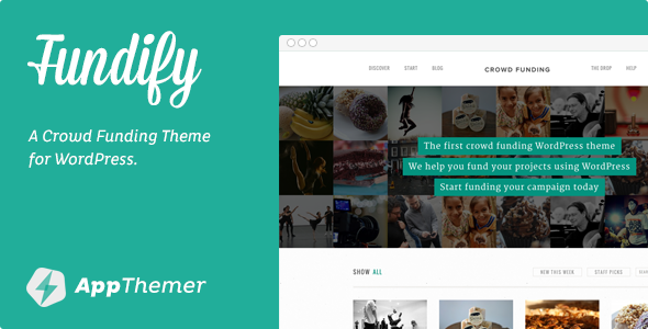 Live Preview of Fundify - Crowd Funding WordPress Theme