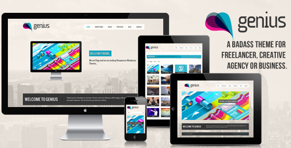 Live Preview of GENIUS - Responsive Wordpress Theme