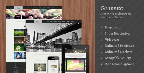 Live Preview of Glisseo - Responsive Multipurpose WordPress Theme