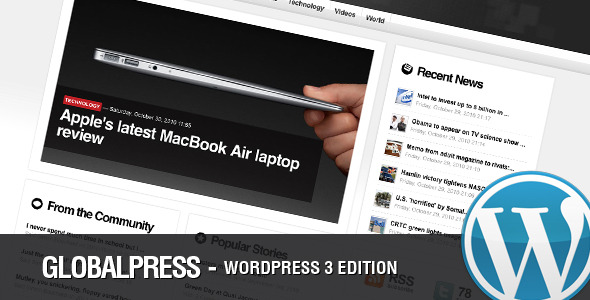 Live Preview of Global Press - A Premium Magazine Wordpress Theme