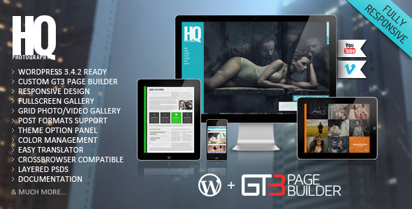 Live Preview of HQ Photography Responsive WP Theme