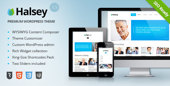 Live Preview of Halsey - Ultimate Business WordPress Theme