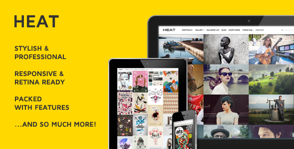 Live Preview of Heat Premium Portfolio WordPress Theme