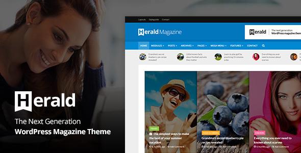 Live Preview of Herald - Nouvelles Portail & Magazine WordPress Thème