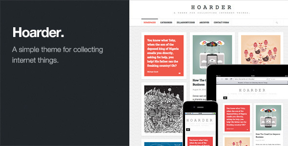 Live Preview of Hoarder: Responsive WordPress Blog Theme