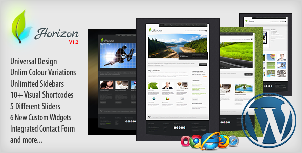 Live Preview of Horizon Premium Wordpress Theme