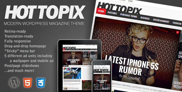 Live Preview of Hot Topix - Modern Wordpress Magazine Theme