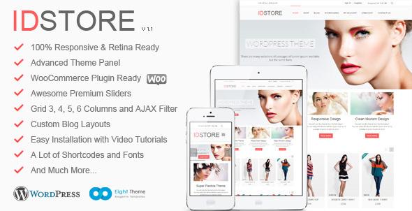Live Preview of IDStore - Responsive Multi-Purpose-commerce a tema