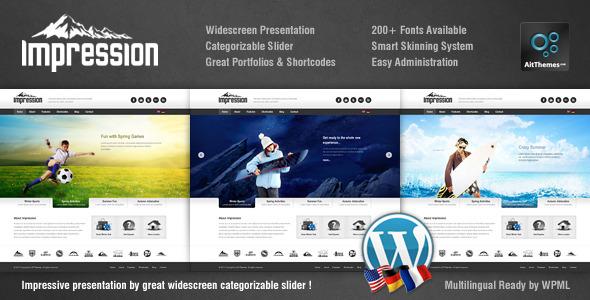 Live Preview of Impression Premium Corporate Presentation Theme WP