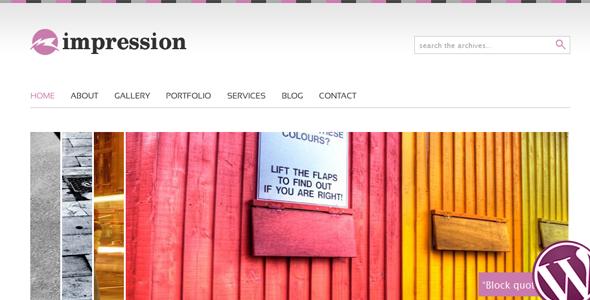 Live Preview of Impression  Premium Wordpress Theme