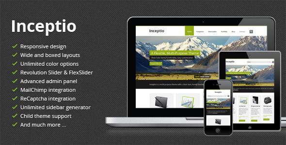 Live Preview of Inceptio - Responsive Multipurpose WordPress Theme