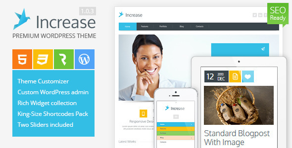 Live Preview of Increase - Premium Business WordPress Theme