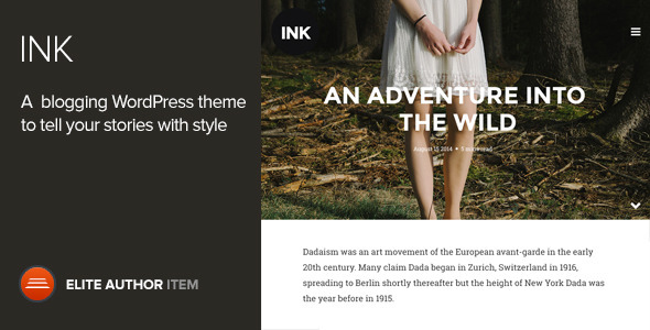 Live Preview of Ink — A WordPress Blogging theme to tell Stories