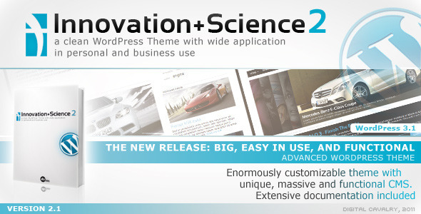 Live Preview of Innovation+Science 2 - Advanced WordPress Theme