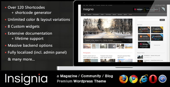 Live Preview of Insignia - a Magazine / Community / Blog theme